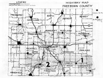 Freeborn County Highway Map, Freeborn County 195x